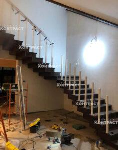 Обшивка лестницы